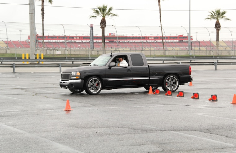 Gmc Sierra On Obstacle Course