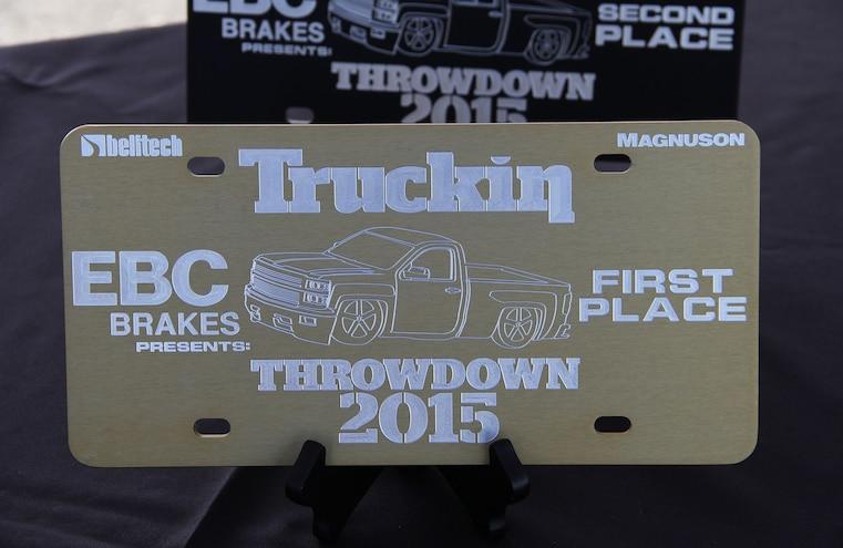 Truckin Throwdown 2015 First Place Trophy