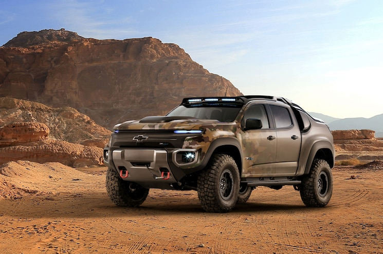 Chevrolet Reveals Hydrogen Fuel Cell Colorado ZH2 at Military Expo