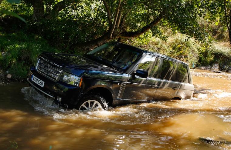 Range Rover Crossing Water
