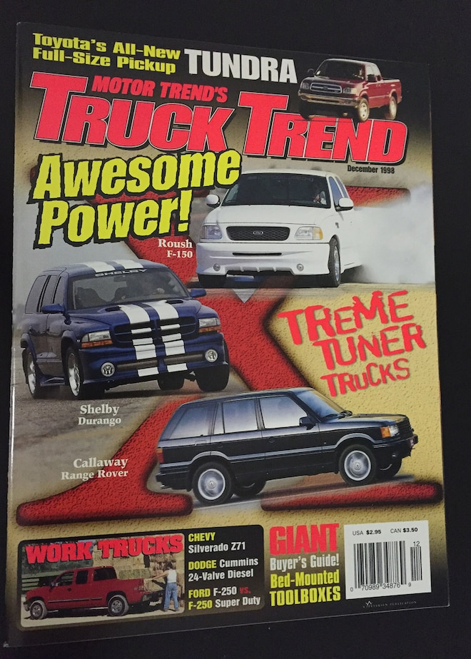 Truck Trend Magazine Covers December 1998