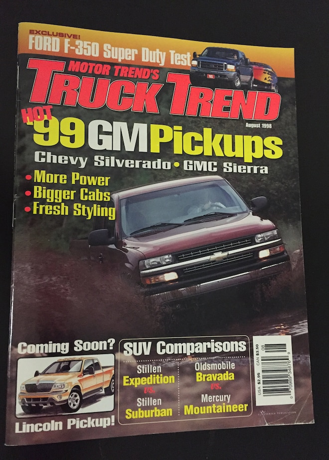 Truck Trend Magazine Covers August 1998
