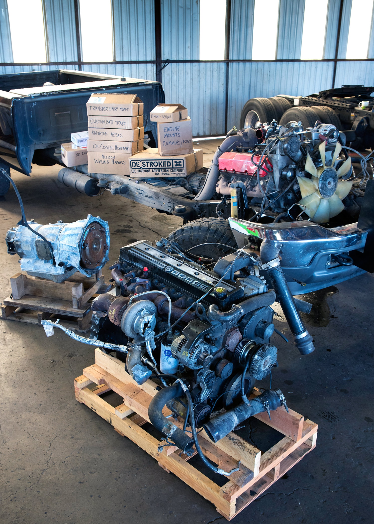 Swap a Ford 7 3L Power Stroke V-8 with a 5 9L Cummins I-6 and