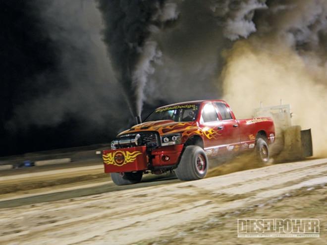 four Wheel Drive Diesel Sled Pulling big Bad Dodge