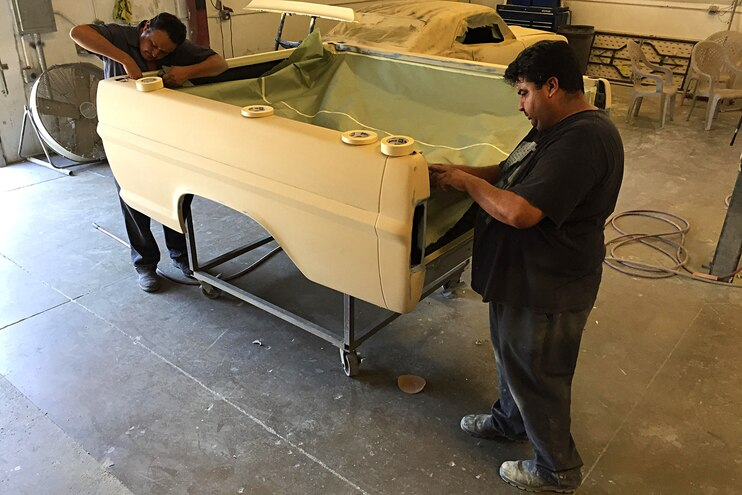 Project Speed Bump 1967 Ford F 100 Bed Prep Primer