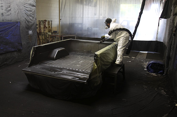 Project Speed Bump 1967 Ford F 100 Bed Prep Initial Coat