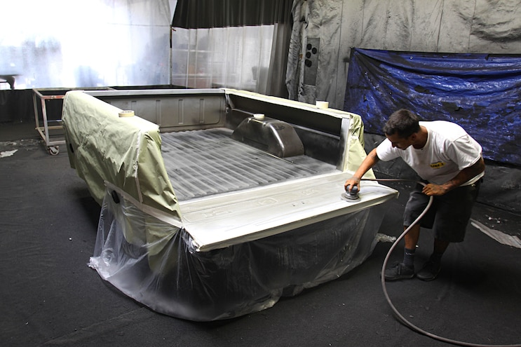 Project Speed Bump 1967 Ford F 100 Bed Prep Sanded