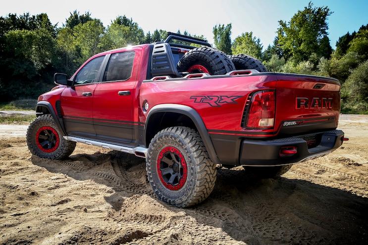 Auto News 8 Lug Work Truck Ram Rebel Trx Concept Rear 3 4