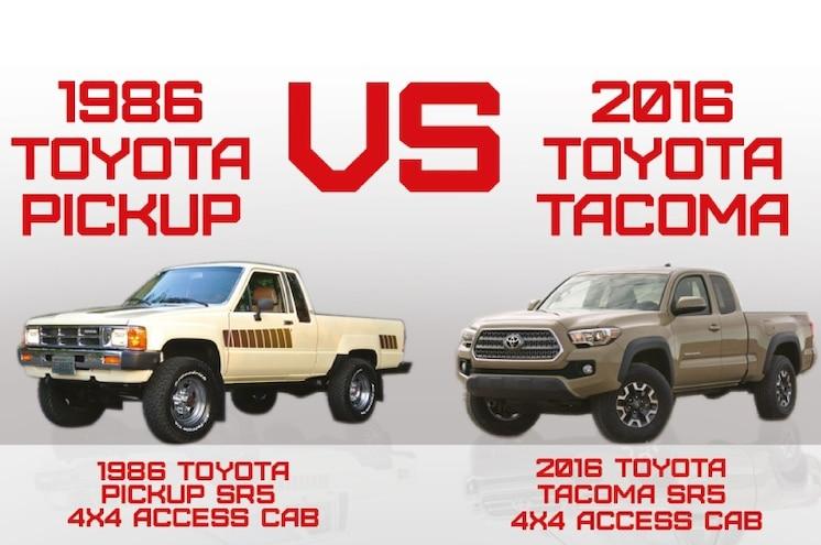 1986 versus 2016: The Toyota Pickup Through the Years