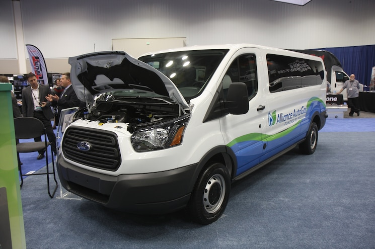 Ford Transit Truck With Alliance Autogas Propane Fuel Conversion