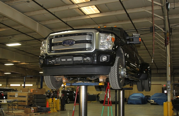 2015 Ford F 350 On Lift Front