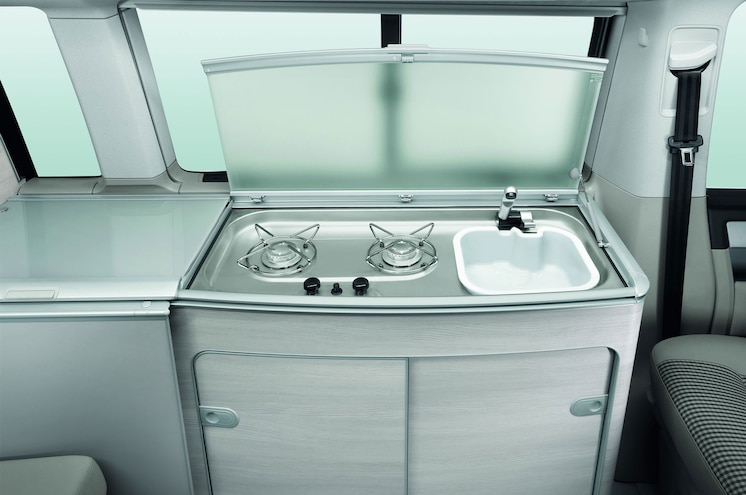 2016 Volkswagen T6 California Interior Kitchen Sink Stove