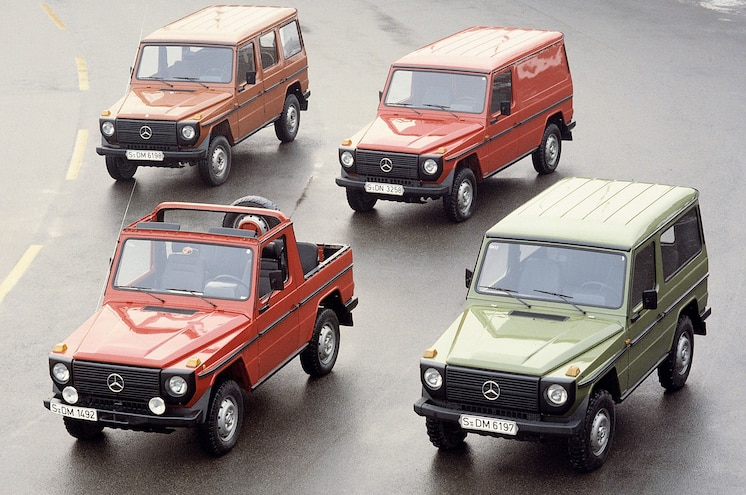 Mercedes Benz Gelandewagen Lineup