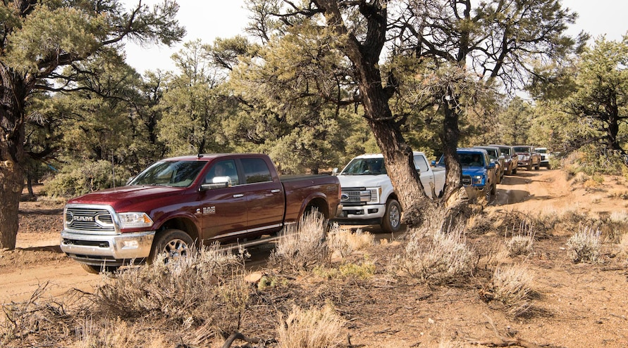 2017 Pickup Truck Of The Year Day Five Truck Lineup Trail