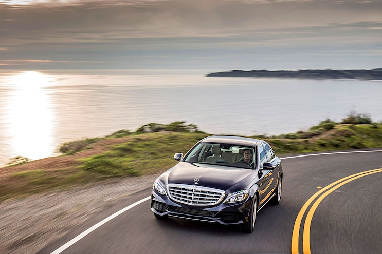 2017 Mercedes C Class C350e Pictured Front Driver Side Motion