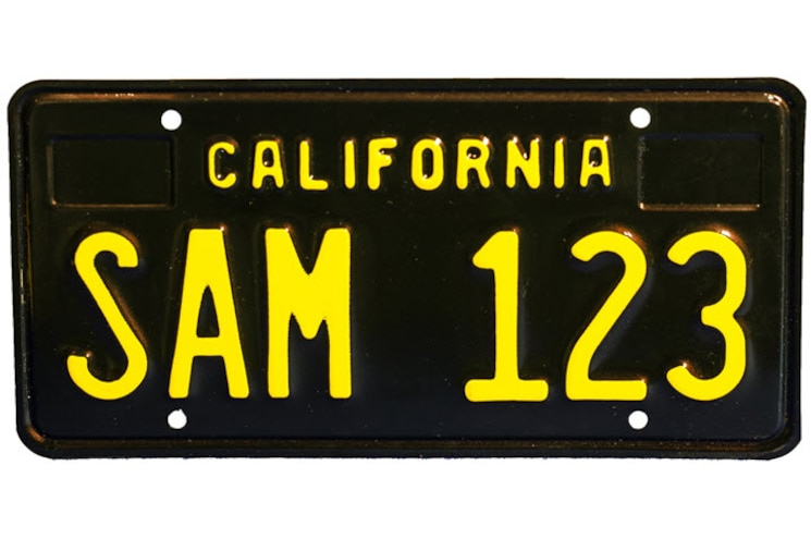 Black Plates are Back: California Legacy License Plates Go Into Production