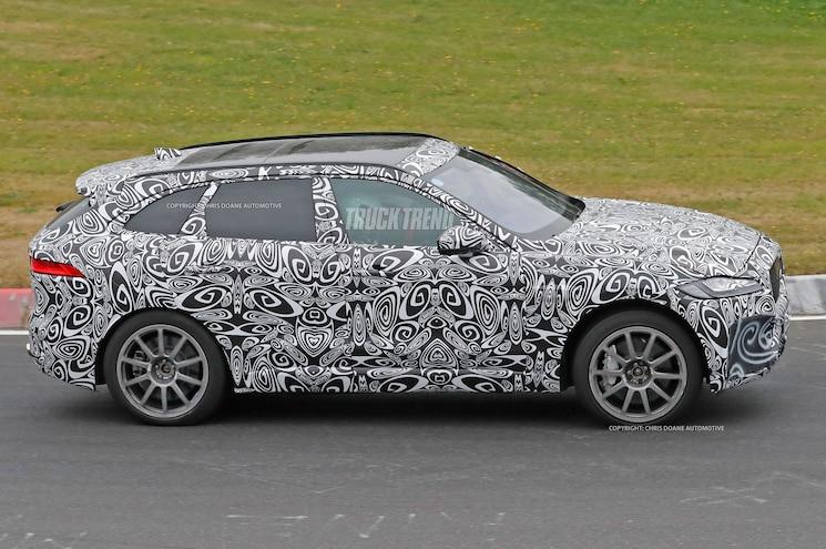 2018 Jaguar F Pace Svr Spied Side Profile
