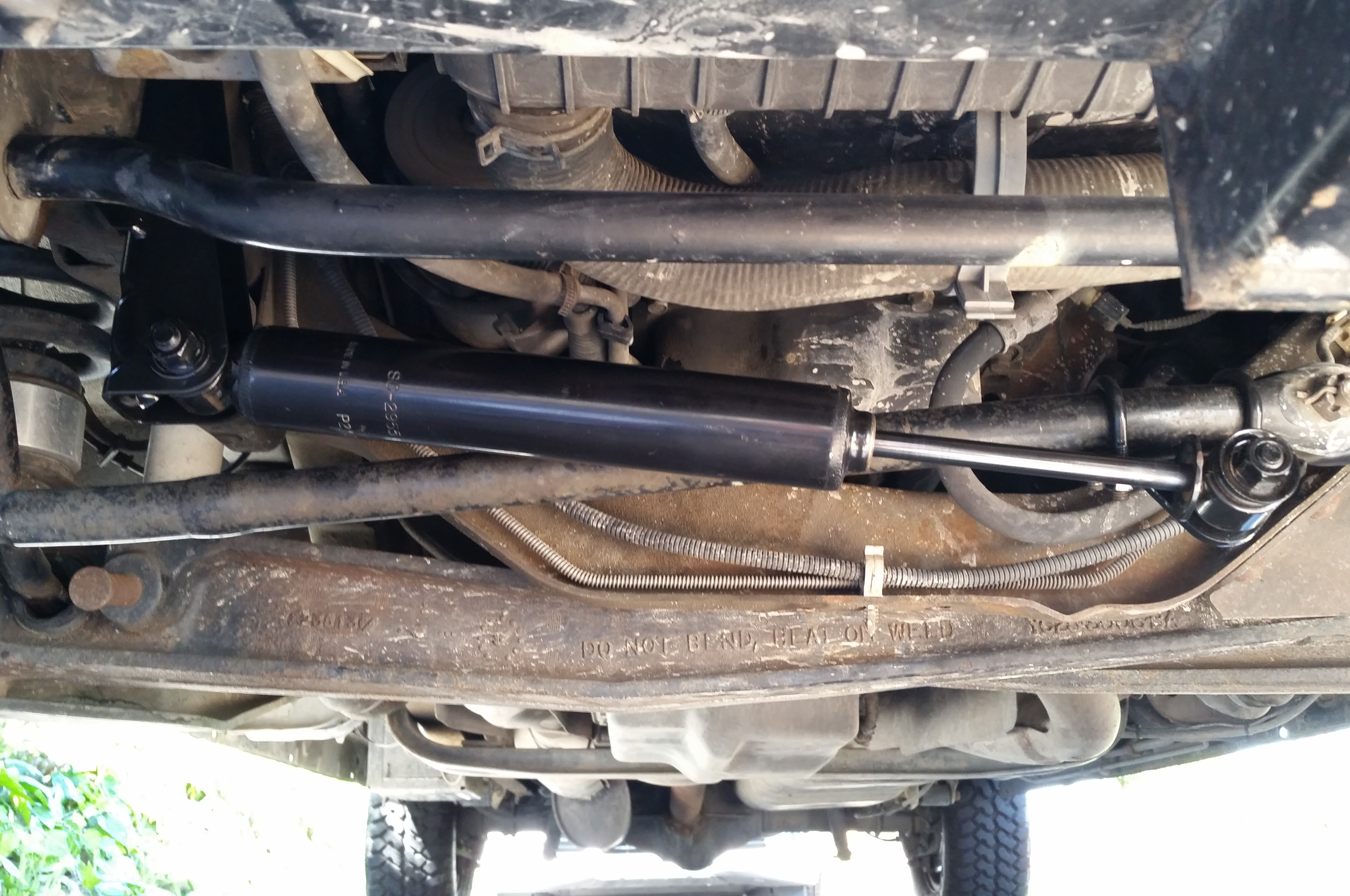 installing ford's oem commercial steering damper on 2002 ford e-350 van  truck trend