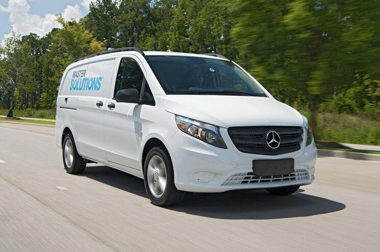Mercedes Benz Van Driving