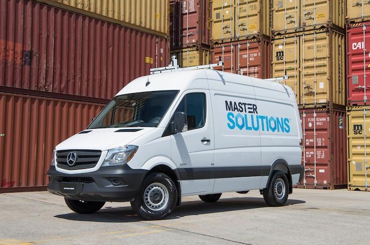 Mercedes Benz Van Freight Containers