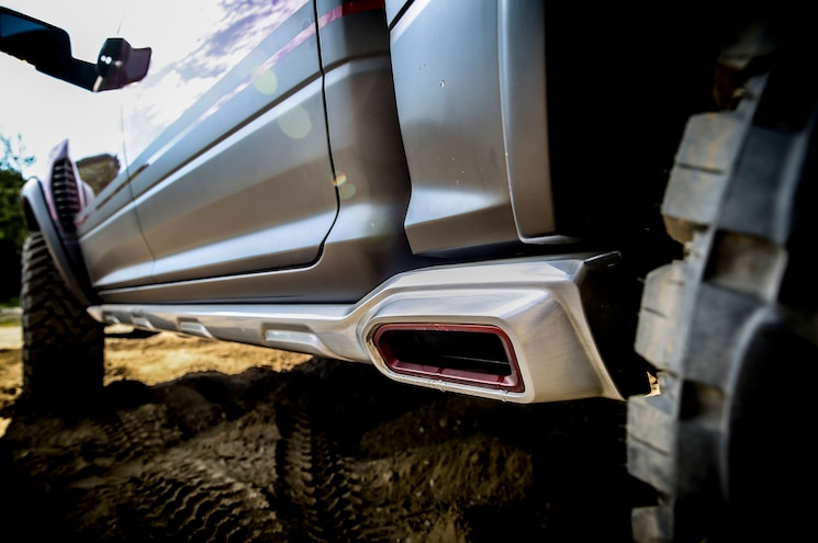 Ram Rebel Trx Concept Side Exit Exhaust