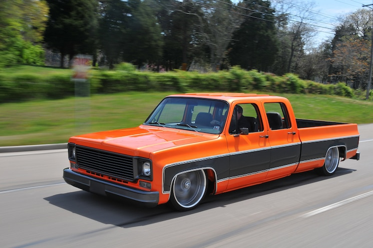 1976 Chevy C30 Pickup Truck Driving