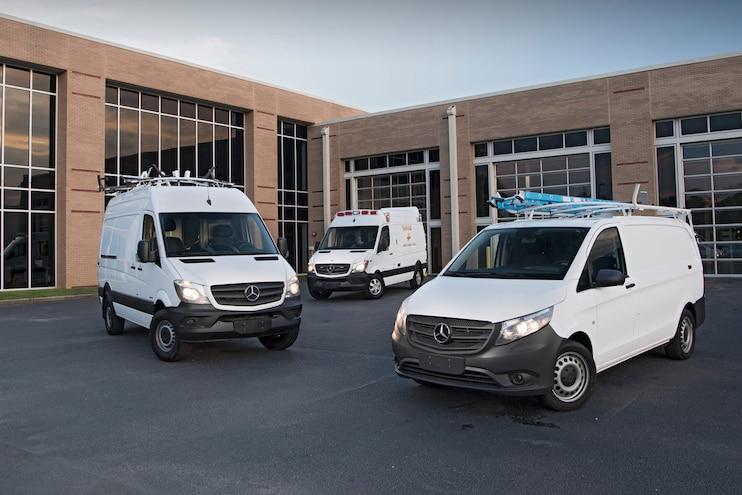 Auto News Work Truck Mercedes Benz Freightliner Vans Mastersolutions Auto Truck Group Knapheide Smartliner Upfit