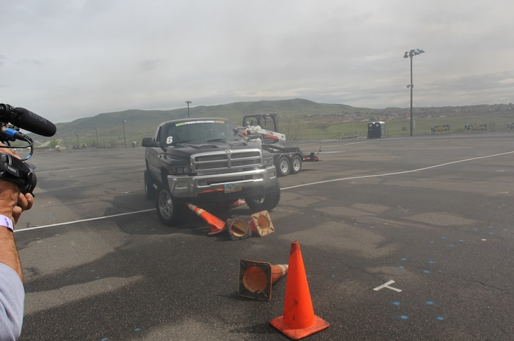 Dpc2015 2001 Dodge Ram 2500 Diesel Trailer Ostacle Course Cones Hit