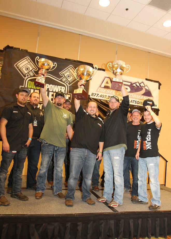 Dpc2015 Diesel Power Challenge Winners Trophies Jesse Warren Lavon Miller Rick Fox