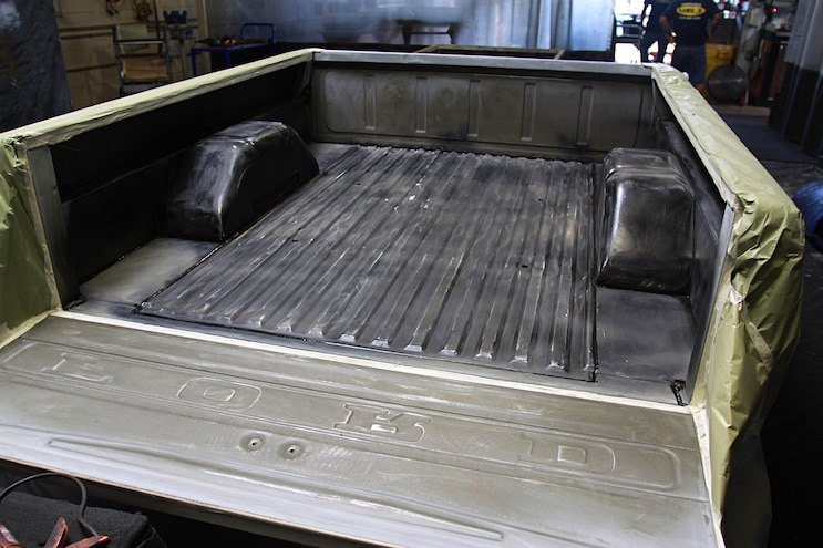 Project Speed Bump 1967 Ford F 100 Bed Prep Masked