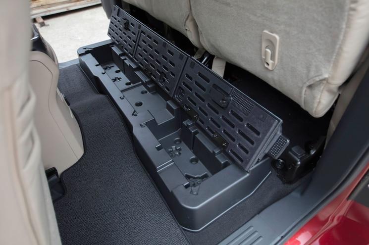 2017 Nissan Titan King Cab Rear Underseat Storage