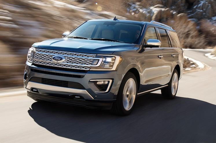 2018 Ford Expedition Front Three Quarter In Motion