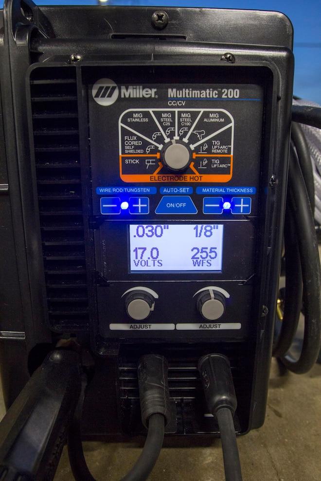 Miller Multimatic 200 Tool MIG
