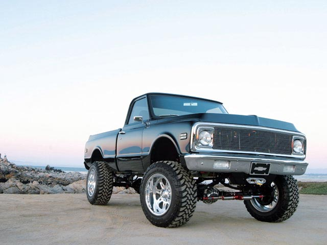 1972 Chevy K10 right Front Angle