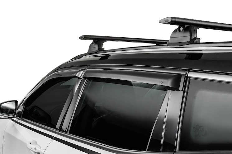 2017 Jeep Compass Mopar Window Deflectors And Roof Rails