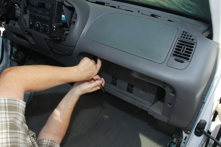Ford F150 Heater Core Airbag Removal