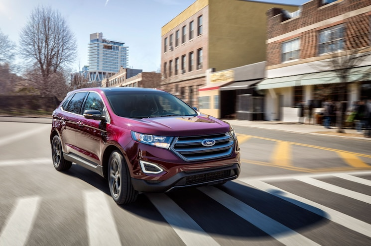 2018 Ford Edge Sel Sport Appearance Package Exterior Front Quarter 06