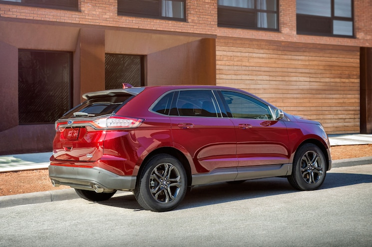 2018 Ford Edge Sel Sport Appearance Package Exterior Rear Quarter 01