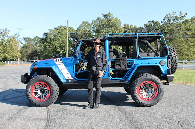 2016 Jeep Wrangler Unlimited Omix ADA Sema Cares Side Profile With Richard Petty