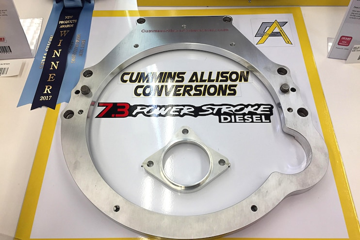 Diesel Truck Parts Sema Cummins Allison Conversions Adaptor 7.3 Ford