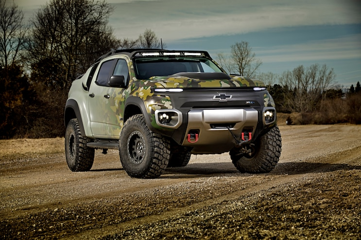 Tardec Chevrolet Colorado Zh2 Hydrogen Fuel Cell Side Front
