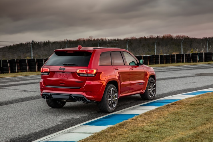 2018 Jeep Grand Cherokee Trackhawk Exterior Rear Three Quarter 03