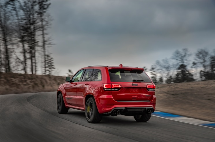 2018 Jeep Grand Cherokee Trackhawk Exterior Rear Three Quarter 04