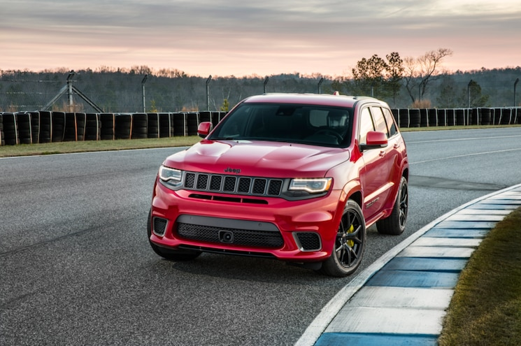 2018 Jeep Grand Cherokee Trackhawk Exterior Front Three Quarter 02