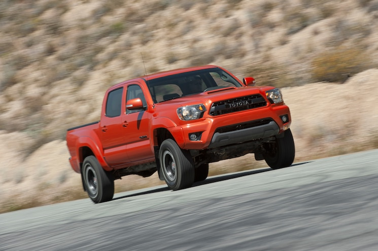 2015 Toyota Tacoma Pro Supercharged Front Three Quarter In Motion 04
