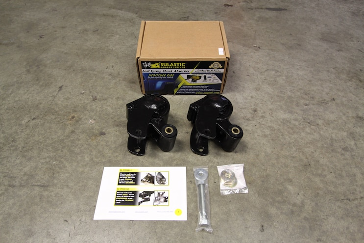 Sulastic Shackles install on a 2008 Chevrolet Silverado 3500 HD