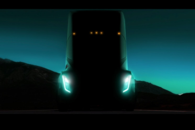 Elon Musk Teases Upcoming Tesla Semi in TED Talk