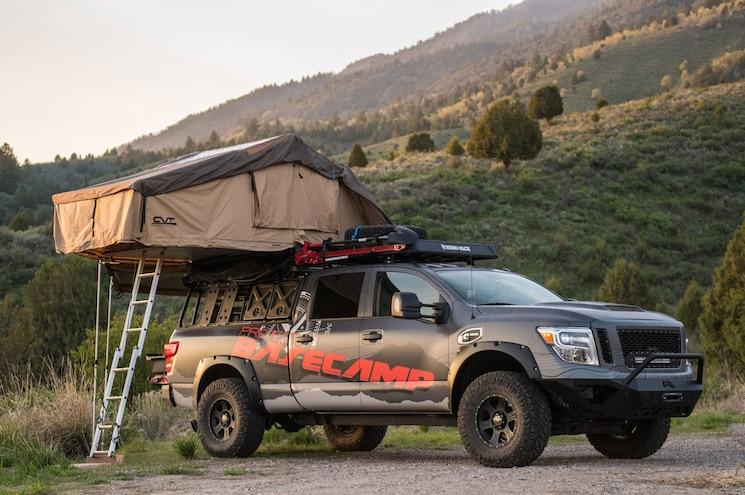 2017 Nissan Titan Xd Project Basecamp Front Quarter 02 Tent