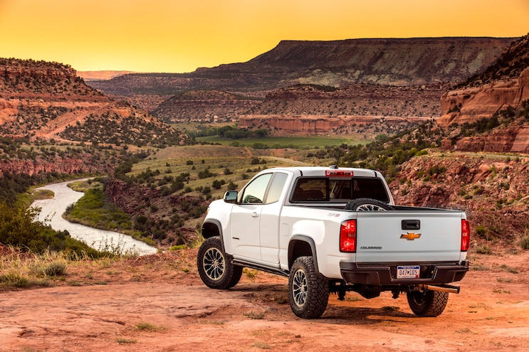 2017 Chevrolet Colorado Zr2 First Drive Rear View