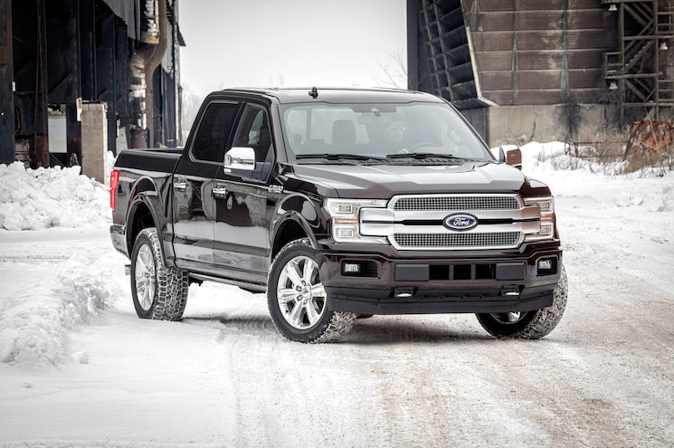 2018 Ford F 150 Platinum Front Quarter